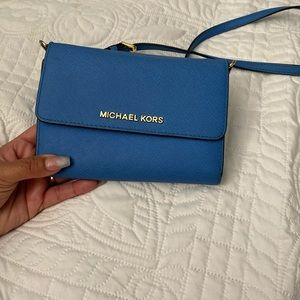 Michael Kors Jet crossbody blue handbag